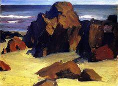 bofransson: Rocks and Sand Edward Hopper - 1916