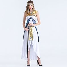 Cosplay Costumes Party Costume Fairytale Goddess Festival/Holiday Halloween Costumes White Patchwork Dress Halloween Carnival Female 5272065 2017 – $33.59