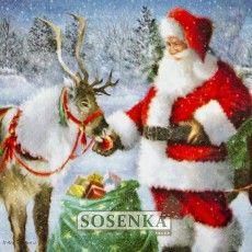 Serwetka Bożonarodzeniowa do DECOUPAGE nr Bn85