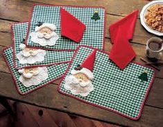 christmas placemat on sale at reasonable prices, buy Christmas Placemats ,Merry Christmas Santa Checked Plaid Placemats Mat Dinner Table Decoration Napkin is't included from mobile site on Aliexpress Now! Merry Christmas Santa, Felt Christmas, All Things Christmas, Christmas Holidays, Christmas Ornaments, Christmas Placemats, Christmas Table Decorations, Christmas Sewing, Fall Placemats