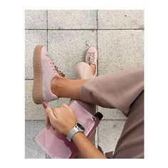"""missguided: Creepers = major Sunday casj vibes : @lissyroddyy : """"lace up flatform trainers pink"""" #missguided #weekend"""