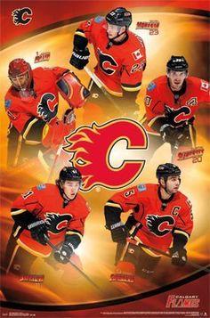 Calgary Flames Team Collage Poster 22x34 NHL Hockey 13832 | eBay