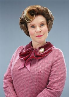 Imelda Staunton as Dolores Umbridge in Harry Potter and the Half Blood Prince.