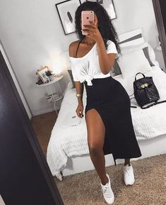 Stylish Fashion Tips That Will Improve Your Look – Fashion Trends Outfit Chic, Stylish Outfits, Ootd Chic, Mode Outfits, Girl Outfits, Fashion Outfits, Black Girl Fashion, Fashion Looks, Fashion Fashion
