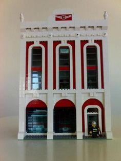 Lego Fire house: A LEGO® creation by Teddy . : MOCpages.com