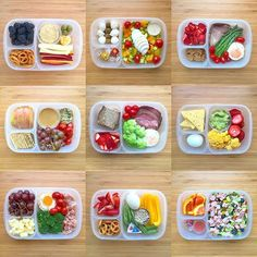 Lunch doesn't have to be the same ol', same ol', and healthy doesn't have to be boring ☺️. Hopefully you'll find some inspiration in these kid and adult-friendly simple & balanced lunchboxes. #lunch #lunchbox #easylunchboxes