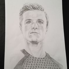 Peeta Mellark sketch by coletteyspaghetti94 on Instagram.