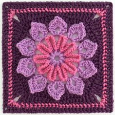 Ravelry: Simple 10-Petal Afghan Square by Joyce Lewis