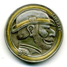 Steve Cox Hobo Nickel, Buffalo, Classic Style, Cactus, Coins, Carving, Scrapbook, Art, Succulents