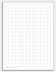 Printable Graph Paper and Grid Paper 1 Inch Grid Paper Classroom