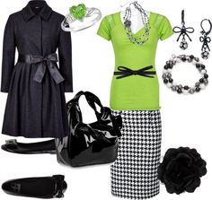 """""""black and lime green"""" by sapphire-angel ❤ liked on Polyvore"""