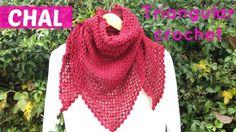 Aprende a tejer un chal a crochet, triangular y fácil de tejer. Si quieres ver mas ideas de crochet para de otoño invierno, visita este link: http://www.hand...