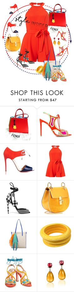 """""""Strapped In: Lace-Up Sandals"""" by betiboop8 ❤ liked on Polyvore featuring Fendi, Nicholas Kirkwood, Christian Louboutin, Miss Selfridge, Pierre Hardy, Chloé, The Volon, Tuleste, Paula Cademartori and Goshwara"""