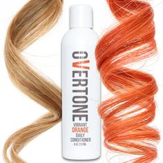 If you're over your orange hair dye fading, then you NEED oVertone orange color conditioner. It keeps you orange dyed hair bright as it was on day one!