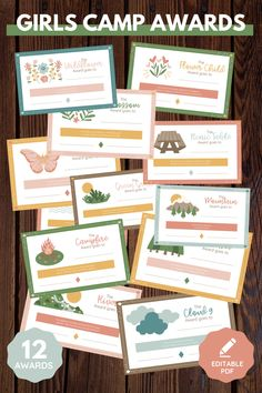Enhance lds Girls Camp! These girls camp awards are non-food and emphasize young women's strengths with a nature theme. Editable pdf. Perfect for YCLs, awesome for your Latter-Day Saint camp! 12 total certificates. Printable instant download. Spiritual and fun message! Girls Camp Awards, Lds Blogs, Secret Sister Gifts, Fhe Lessons, Visiting Teaching, Scripture Study, Certificate Templates, Young Women, Spiritual