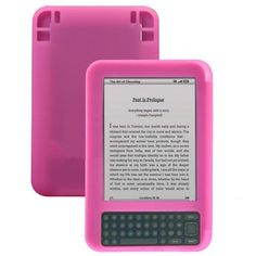 Importer520 Hot Pink Premium Silicone Skin Soft Cover Case for Amazon kindle keyboard 3 by Importer520. $0.99. Plug your charger, headset or cable without removing the case. Prevents damage to your kindle 3 from objects in your pockets or purse. Kindle 3 not included