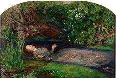 ジョン・エヴァレット・ミレイ「オフィーリア」(1851~52年、油彩、カンバス、テート美術館蔵)(C)Tate,London 2014