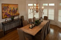 loving this table & decor on it Dining Room Table, Kitchen Dining, Dining Rooms, Dining Room Inspiration, Interior Inspiration, Sweet Home, New Homes, Texas Ranch, Room Ideas