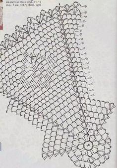 Crochet Doily Diagram, Crochet Mandala, Crochet Doilies, Crochet Lace, Crochet Designs, Crochet Patterns, Crochet Decoration, Table Covers, Diy And Crafts