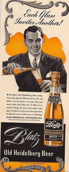 Blatz Heidelberg Beer Ad by slade1955, via Flickr