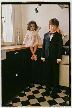 Kids Fashion Photography, My Little Girl, Kind Mode, 6 Years, Zara, Satin, Pants, Black, Trouser Pants