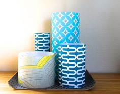 Make a statement vase collection with decals