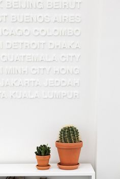 The type wall // educate your sofa