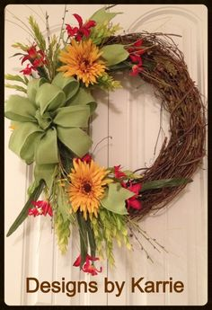 Spring wreath Facebook.com/designsbykarrie