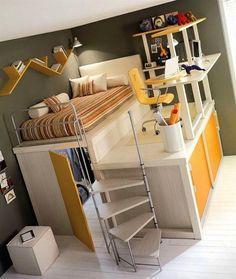 3. Maksimum 10 metrekarelik alanda her ihtiyacını görmüş, sen olsan bir yatak koyar, sonra da nerede çalışsam diye bakar durursun.