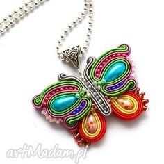 Butterfly Soutache More Soutache Pendant, Soutache Necklace, Macrame Earrings, Beaded Jewelry, Brooches Handmade, Earrings Handmade, Handmade Jewelry, Soutache Tutorial, Maxi Collar