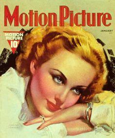 Carole Lombard - Motion Picture Magazine Cover 1930's Masterprint
