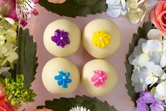 Serve these dainty, lemony bite-size Lemon Blossom-OREO Cookie Balls at your next bridal or baby shower. Lemon Blossom-OREO Cookie Balls feature golden OREO cookies and a creamy, delicious filling. Oreo Cookie Balls Recipe, Oreo Truffles, Oreo Cookies, Sandwich Cookies, Lemon Truffles, Onesie Cookies, Bar Cookies, Lemon Desserts, Cookie Desserts