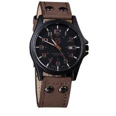 fashion New Arrival Vintage Classic Men's Date Leather Strap watches Sport Quartz Watch Military brand Wristwatch