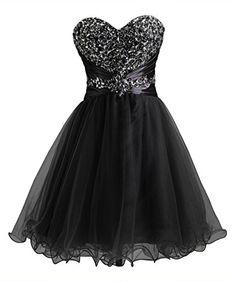 Callmelady Short Homecoming Dresses 2016 Tulle Sweetheart Beading Prom Gowns (Black, US8) Callmelady http://www.amazon.com/dp/B01E3FKAHA/ref=cm_sw_r_pi_dp_K4jfxb1WM9T1G