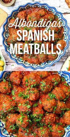 Albondigas - Spanish Meatballs in Rich Tomato Sauce - Supergolden Bakes