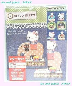 Hello Kitty with ELEPHANT letter set 2008 SANRIOTokyo Japan only kawaii stickers