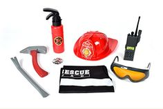Maxx Action Firefighter Deluxe Costume DressUp Play Set 8Piece -- Visit the image link more details. (Note:Amazon affiliate link)