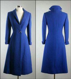 Pauline Trigere princess coat 40s