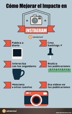 Cómo mejorar el impacto en Instagram #infografia #infographic #socialmedia