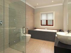 Bathroom. Cozy Modern Baths Design Inspiration. Amazing Modern Batroom Decoration With White Porcelain Modern