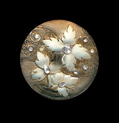 Button ~ Gorgeous Large Late 19th C. Silvery Sepia Foliate Lacy Glass by rclarner on Etsy https://www.etsy.com/listing/210685545/button-gorgeous-large-late-19th-c
