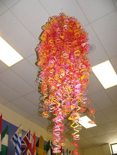 Chihuly inspired sculpture...I did this with my 3rd and 4th graders last year...wonderful group lesson!