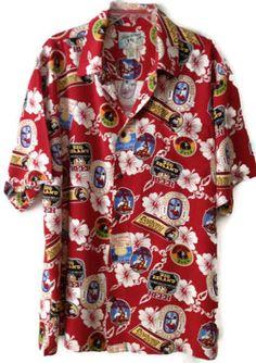 Hawaiian Big Dogs Shirt Mens L