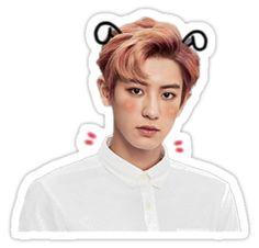 'Cute Chanyeol Sticker by liliidaes Exo Stickers, Tumbler Stickers, Face Stickers, Printable Stickers, Kpop Logos, Chanyeol Cute, Florist Logo, Exo Lockscreen, Stickers
