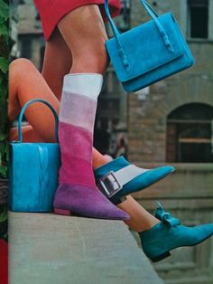 Shoes and handbags by Ferragamo, 1967.