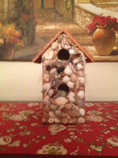 Seashell bird house sells for 15.00