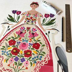Painting / Pintando Source by Kunst Inspo, Art Inspo, Painting Inspiration, Folk Art Flowers, Flower Art, Flora Flowers, Art And Illustration, Scandinavian Folk Art, Guache