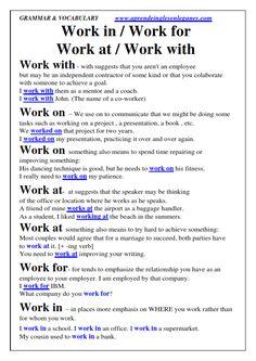 Work phrasal verbs