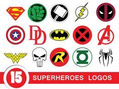 Digital cliparts sale! #Superhero logos including Superman, Spiderman, Hulk, Thor, Flash, Captain America, Wonder Woman, Punisher, Batman, Robin, Green Lantern and Avengers, Deadpool, X-men, Daredevil  in PNG, EPS formats