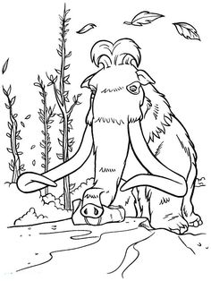 Ice age manny coloring pages